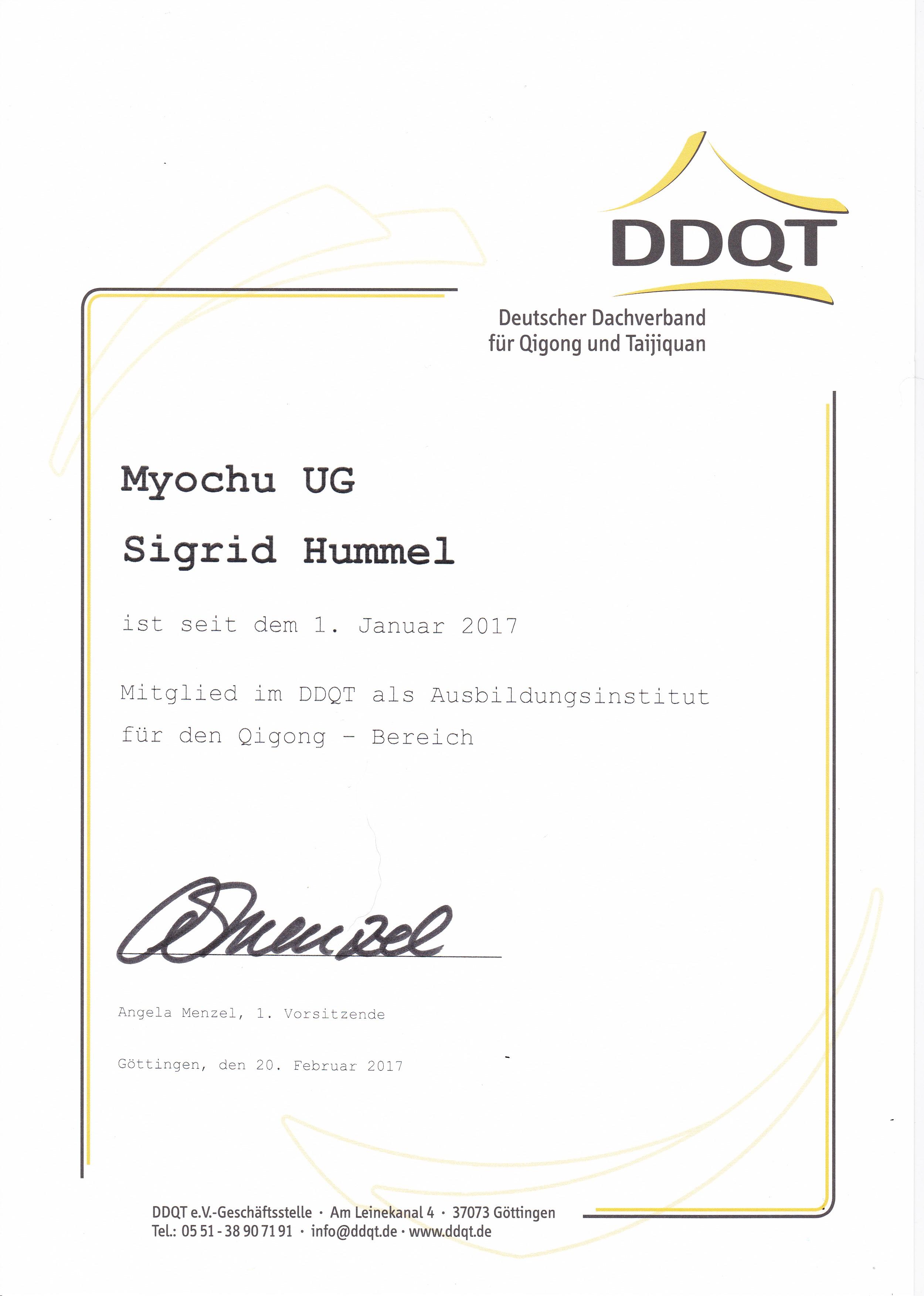 Myochu DDQT Ausbildungsinstitut