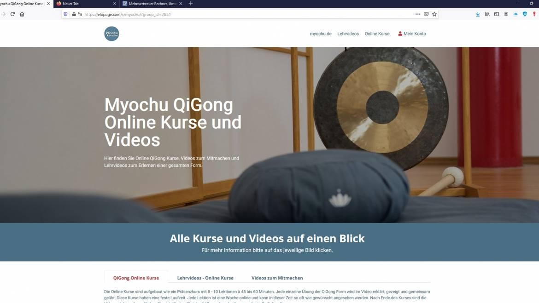 Neu! QiGong Online Kurse